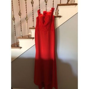 Red dress/Formal dress/ Prom dress